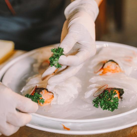 Sashimi cá bơn Hàn Quốc